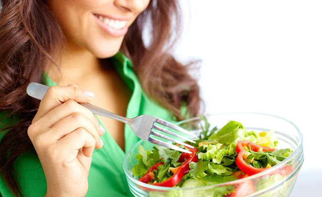 Manchmal auch perfekt: Ein gesunder Salat als Mittagessen