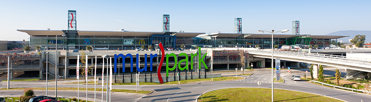 Der Murkpark im Osten von Graz