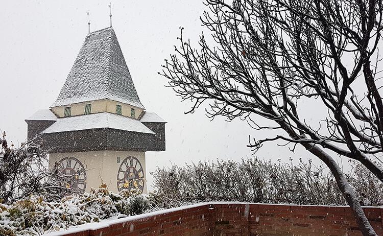 Schnee in Graz
